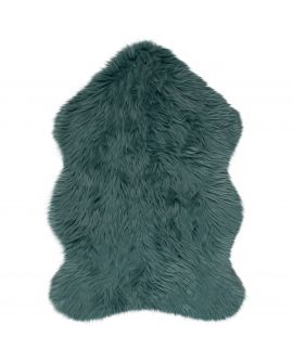 TAPIS FAUX FUR SHEEPSKIN 100% Acrylic TEAL