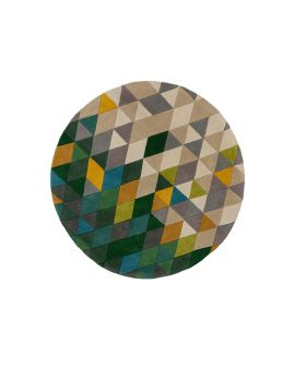 TAPIS ILLUSION PRISM 100% Wool GREEN/MULTI