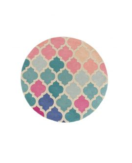 TAPIS ILLUSION ROSELLA 100% Wool PINK/BLUE