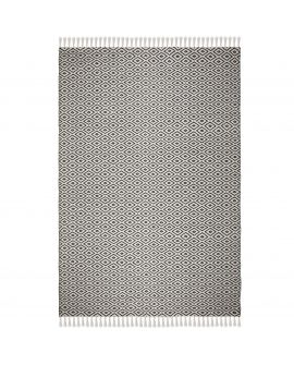 TAPIS MALMO RECYCLED SIGRID 100% Polyester BLACK/WHITE