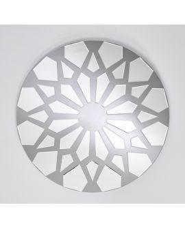 Miroir CLUSTER Modern Rond Argent 100x100 cm