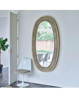 Miroir ETNA GOLD Modern Ovale Or 89x170 cm