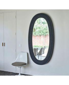 Miroir ETNA BLACK Modern Ovale Noir 89x170 cm
