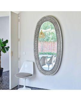 Miroir ETNA SILVER Modern Ovale Gris 89x170 cm