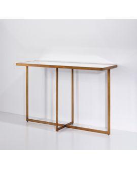 MIROIR CONSOLE TABLO BRONZE L 120x77 CM