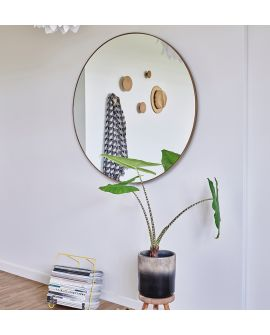 Miroir HOOP BRONZE L Rond Gold 105x105 cm