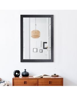 Miroir KYO SMALL RECT Rectangle Noir 100x70 cm