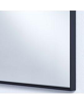 Miroir LUCKA BLACK SMALL RECT Rectangle Noir 91x61 cm