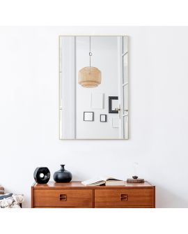 Miroir LUCKA GOLD SMALL RECT Rectangle Gold 91x61 cm