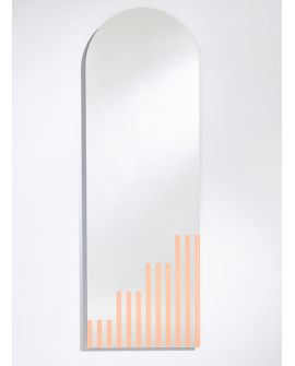 Miroir PASSO Rectangle/Oval Saumon 150x50 cm