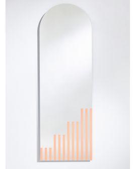 Miroir PASSO Rectangle/Oval Saumon 150x50 cm