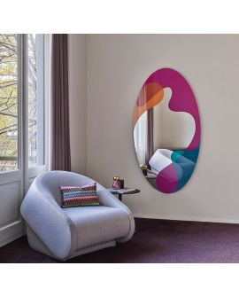 Miroir SPEKTRUM Oval Multicolor 175x94 cm