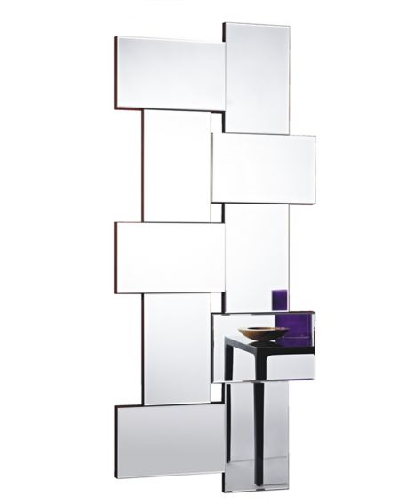 miroir design criss cross contemporain rectangulaire naturel