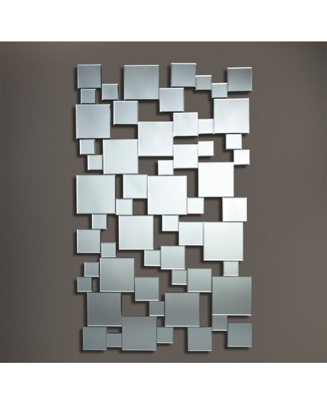 Miroir design Pixels Moderne Contemporain Rectangulaire Naturel 85x141cm