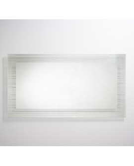 Miroir Contemporain SONAR XL Rectangulaire Naturel 75x140 cm