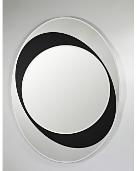 Miroir Oval Contemporain SPHERE Naturel 83x110 cm