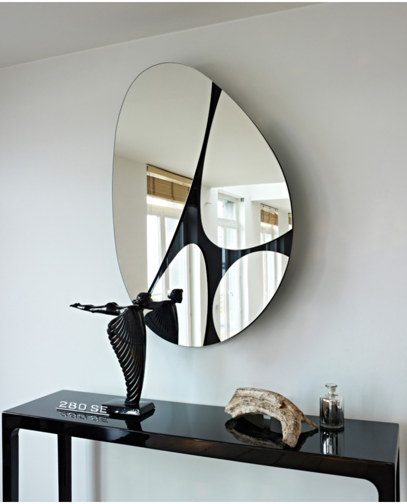 miroir oval rotatif contemporain pebbles naturel 83x125 cm. Black Bedroom Furniture Sets. Home Design Ideas