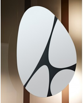 Miroir Oval Rotatif Contemporain PEBBLES Naturel 83x125 cm