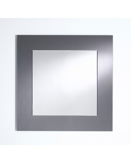 Miroir BASIC SQUARE GREY / GRIS MAT Modern Traditionnel Carré Gris 85x85 cm