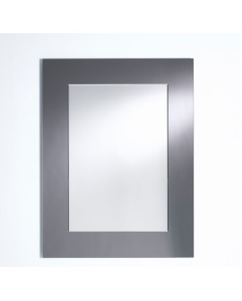 Miroir BASIC RECTANGULAIRE GREY / GRIS MAT Modern Traditionnel 80x105 cm