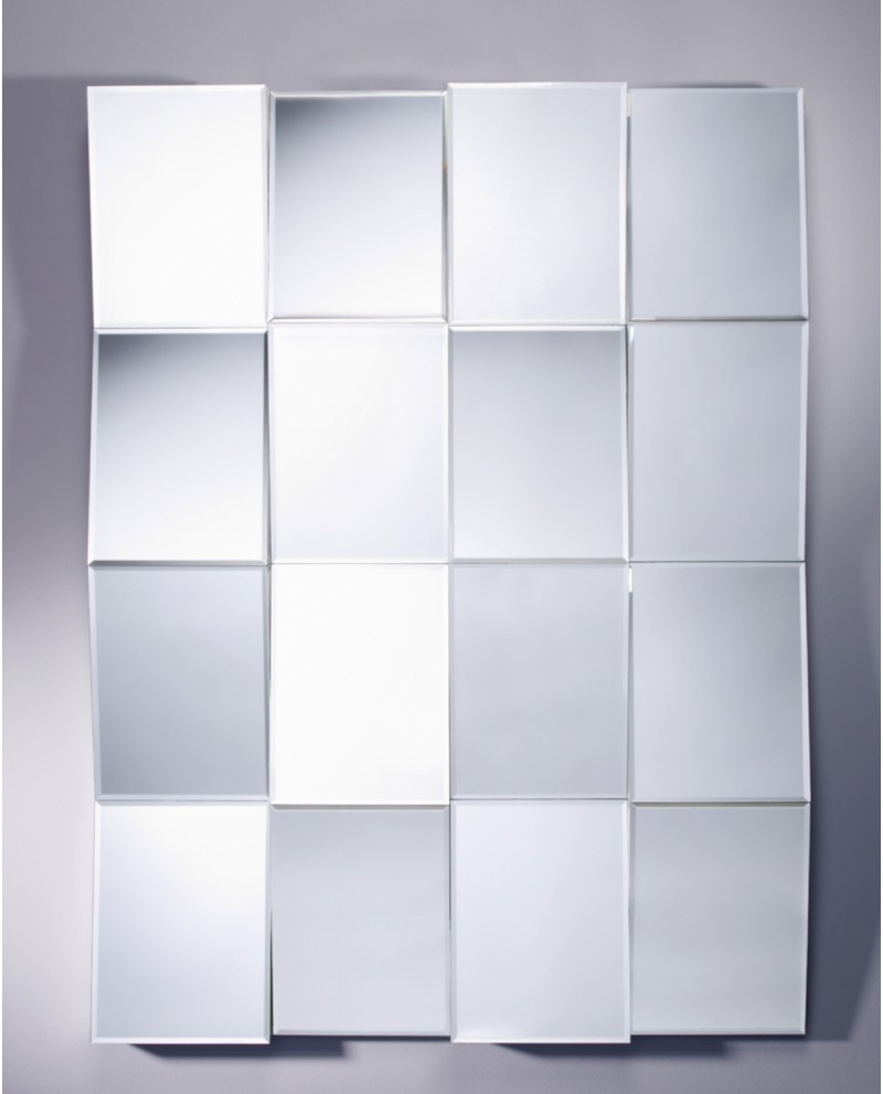 Miroir DESIGN ZIG ZAG Modern Contemporain Rectangulaire Naturel 90x120 cm