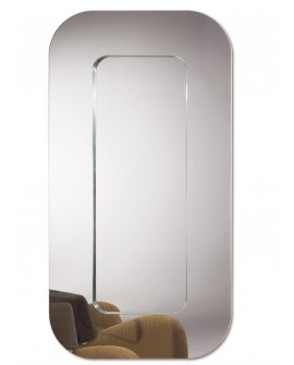 Miroir Classique LOUNGE XL Contemporain Rectangulaire Naturel 100x190 cm
