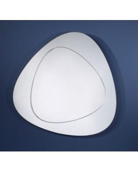 Miroir Design DEVOLUTION Modern Classique Ovale Naturel 92x94 cm