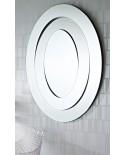Miroir Ovale SATURN Modern Classique Naturel 95x123 cm