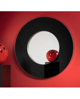 Miroir encadré Rondo L Black Ronde Noir 113 X 115