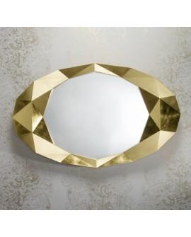 Miroir Moderne PRECIOUS GOLD Ovale Dorée 93x152  cm