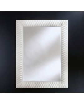 Miroir Contemporain NICK M WHITE Rectangulaire Blanc 106x140 cm