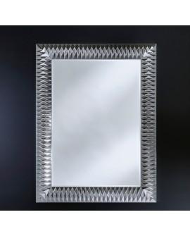 Miroir Contemporain NICK M SILVER Moyen Rectangulaire Argenté 106x140 cm