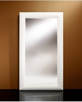 Miroir Contemporain NICK L WHITE Large Rectangulaire Blanc 106x189 cm