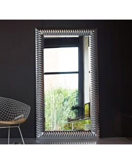 Miroir Contemporain NICK L SILVER Contemporain Rectangulaire Dorée 106x189cm