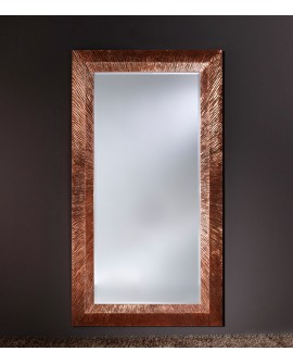 Miroir Contemporain GROOVE COPPER Rectangulaire Cuivré 105x192 cm