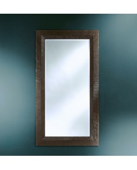Miroir encadré Groove Dark Rectangle Gris + patine 120 X 205