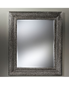 Miroir encadré Dragon Silver Rectangle Argent+patine 118 X 143