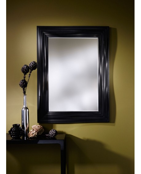 Miroir Contemporain TOPO BLACK Modern Rectangulaire Noir 118x158 cm