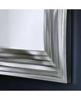Miroir Contemporain TOPO TITAN ARGENT