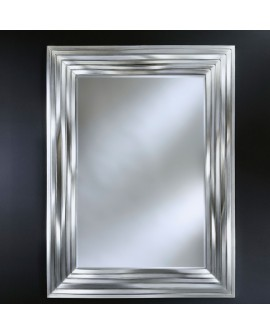 Miroir encadré Topo Titan Rectangle Argent+anthracite 128 X 168