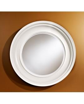 Miroir Contemporain CLARA WHITE Rond Blanc 102 cm