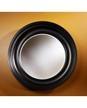 Miroir Contemporain CLARA BLACK  Rond Noir 102 cm