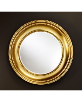 Miroir encadré Clara Gold Ronde Or antique 104 X 106