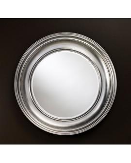 Miroir encadré Clara Silver Ronde Argent+patine 105 X 107