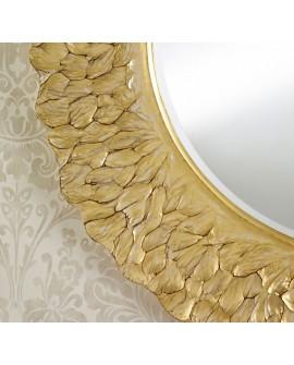 Miroir Contemporain FLORA GOLD