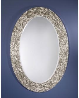 Miroir Design ICARUS SILVER Modern Ovale Argent 100x147 cm