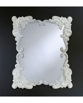 Miroir ANNA WHITE Gothique Rectangulaire Blanc 92x110 cm