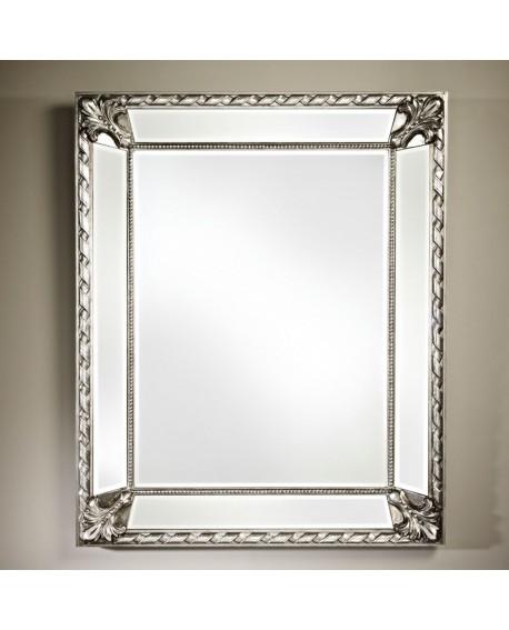 91x112 Gothique Cm Miroir Rectangulaire Argenté Silver Castello m8nOPyNwv0
