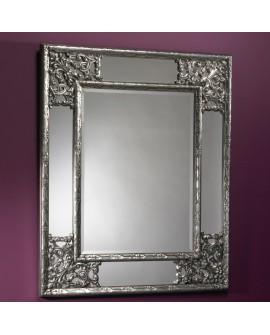 Miroir encadré Angolo Silver Rectangle Couleur argent 85 X 108