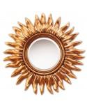 Miroir SUN GOLD Gothique Rond Dorée 82 cm